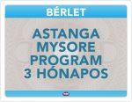 Astanga Mysore Program 3 Hónapos Bérlet