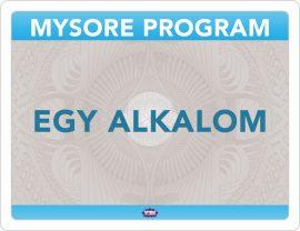 Astanga Mysore Program egy alkalom