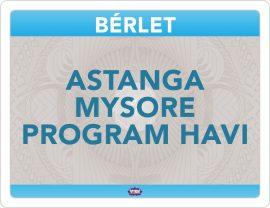 Astanga Mysore Program Havi Bérlet