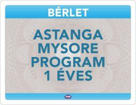 Astanga Mysore Program Éves Bérlet